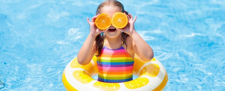 child kid swimming pool beach