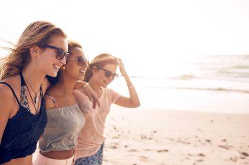 girls getaway to the beach