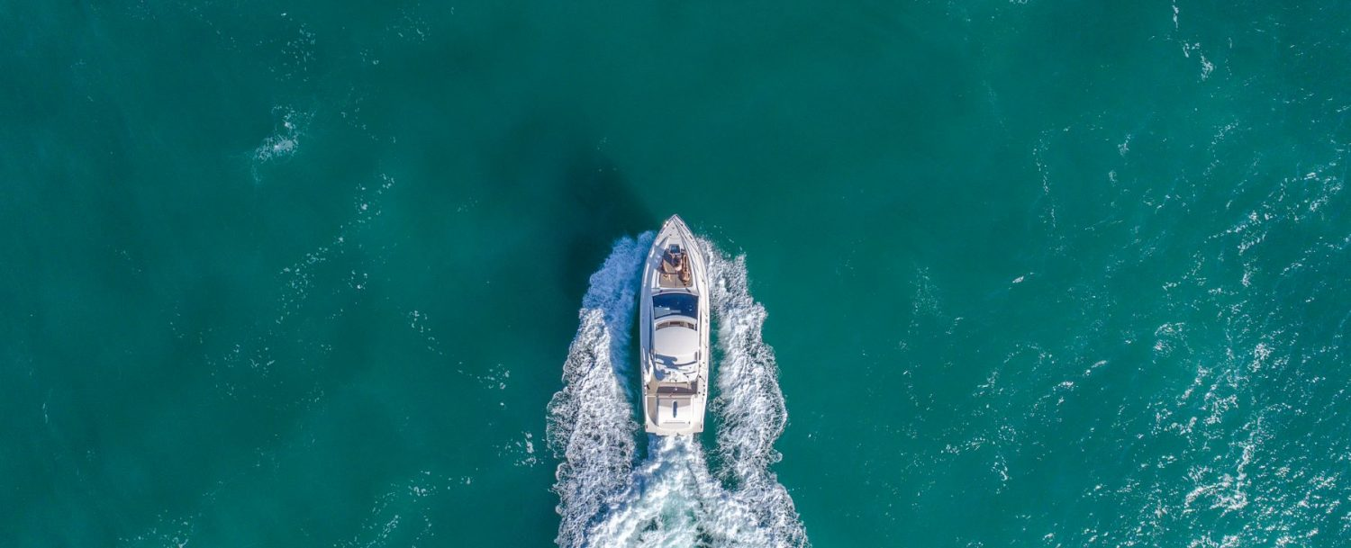 boat aerial view